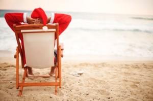 Copywriting santa takes a break